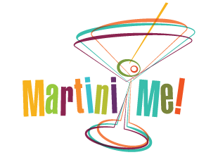Martini Me retro party graphics by Lounge Shark